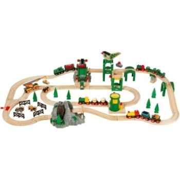 Circuit de chemin de fer deluxe 70 pces - Jouet Brio 33044000