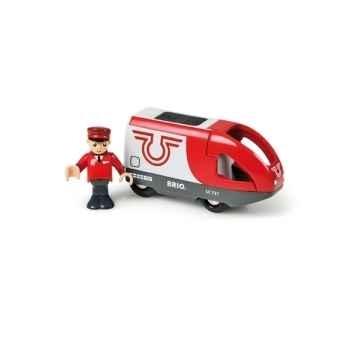 Locomotive à pile et conducteur - Jouet Brio 33504000