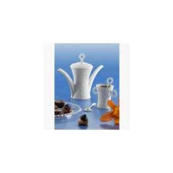 "Daudi-Chocolatière-2 tasses à chocolat  modèle ""Choc""."