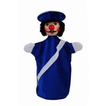 Marionnette tête en bois Policier kersa -60251