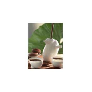 "Daudi-Chocolatière-2 tasses à chocolat  modèle ""Ovéade""."