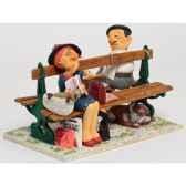 figurine the paris bench bois de bologne forchino fo85703
