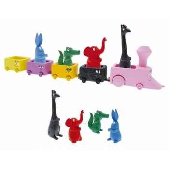 Les jouets d'eveil le train de barbapapa ( + 4 ) Figurine Plastoy 60820