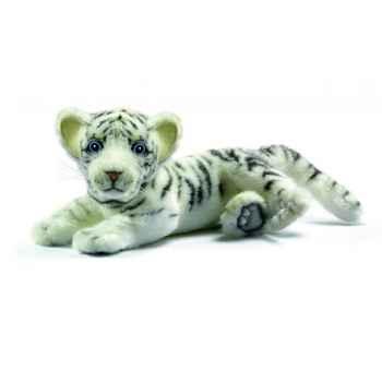 Peluche Tigre blanc bebe couche 26cm Anima 5337