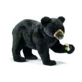 peluche ours noir a 4 pattes 40cm anima 5592