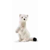 peluche hermine blanche 23cm anima 7053