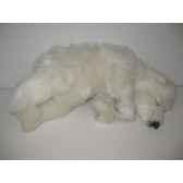 peluche anima ourson polaire dormeur 32cm anima 5376