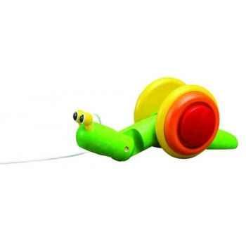Escargot à tirer jouet en bois plantoys 5108