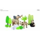 planimaanimaux d asie jouet en bois plantoys 6118