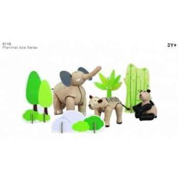 Planimal: animaux d'asie jouet en bois plantoys 6118