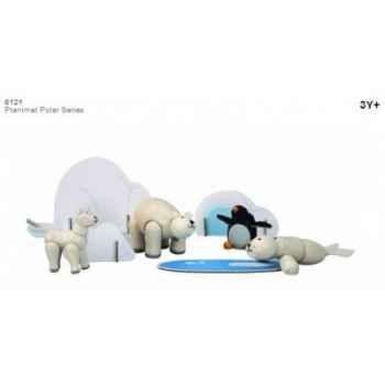 Planimal: animaux polaires jouet en bois plantoys 6121