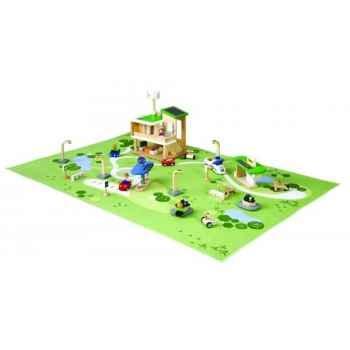 Ville ecologique jouet en bois plantoys 6228