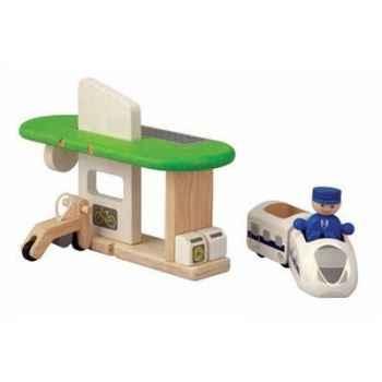 Gare ecologique jouet en bois plantoys 6230