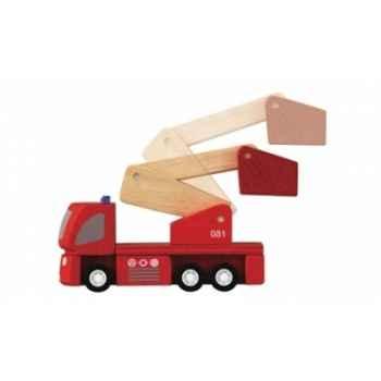 Camion de pompiers jouet en bois plantoys 6234