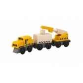 train grue jouet en bois plantoys 6251