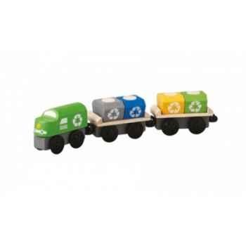 Train de recyclage jouet en bois plantoys 6252
