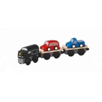 Train ferroutage jouet en bois plantoys 6253