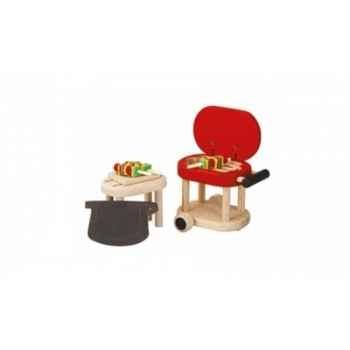 Barbecue jouet en bois plantoys 7345