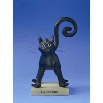 Figurine chat -le chat domestique par dubout - la colere (petit) - cd13