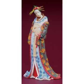Figurine samouraï - hokusai, courtisane  - hok01