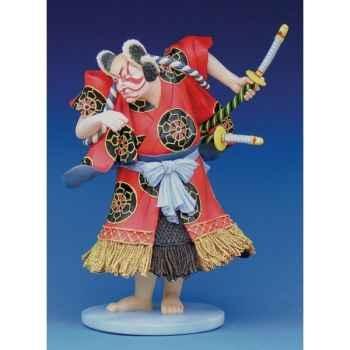 Figurine samouraï - kunisada, kabuki:bando kamezq  - kuno2