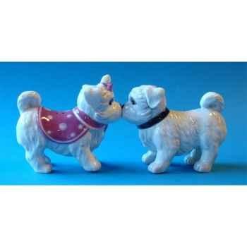 Figurine sel et poivre - maltese pups - mw93902