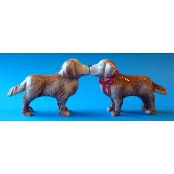 Figurine sel et poivre - golden retreivers   - mw93904