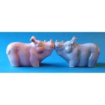 Figurine sel et poivre - rhinos   - mw93908