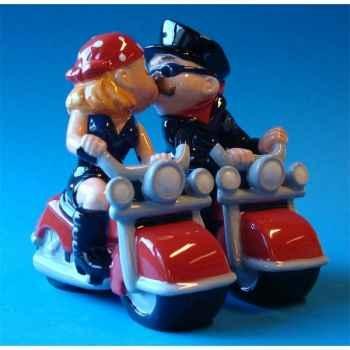 Figurine sel et poivre - bikers   - mw93912