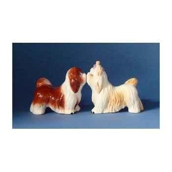 Figurine sel et poivre - lhasa apsos  - mw93939