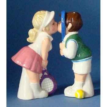 Figurine sel et poivre - couple au tennis - mw93952