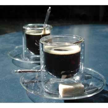 2 Tasses à café 8 cl avec soucoupe SiloDesign7 -SD7s
