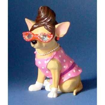 Figurine chien chihuahua jacky c - chi13681