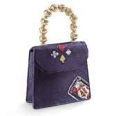 figurine chaussure miniature collection just the right shoe queen of hearts handbag rs25326