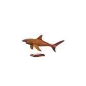 lasterne les miniatures sur socle le requin en chasse 50 cm last are050s r