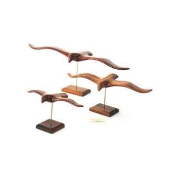 Lasterne - Les oiseaux de mer sur socle - Le goéland - 45 cm - Last-GO45-R