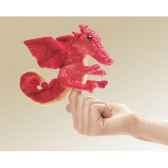 marionnette mini dragon rouge 2696