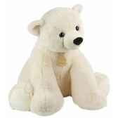 peluche ours polaire assis mm histoire d ours 1434