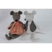 peluche les fripons souris fille lola histoire d ours 2007