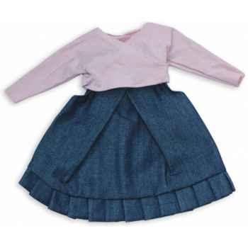 Vêtement rosa pour poupée 40cm Petitcollin 504002