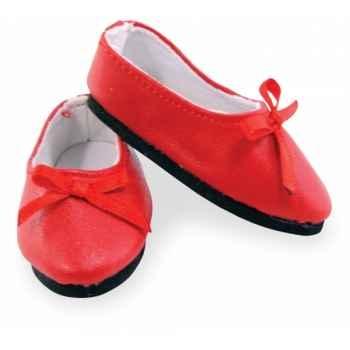 Ballerines rouges pour poupée 35 / 39 / 40cm Petitcollin 603974
