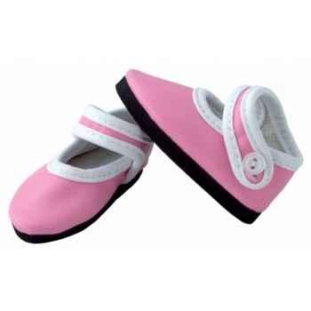 Babies roses pour poupée 35 / 39 / 40cm Petitcollin 603975