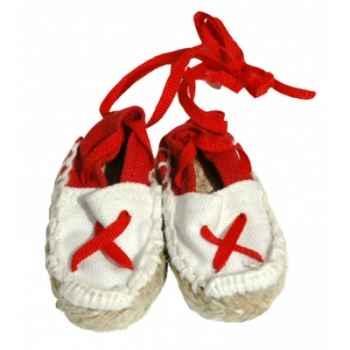 Espadrilles col. assortis taille pour poupée 40cm Petitcollin 800001