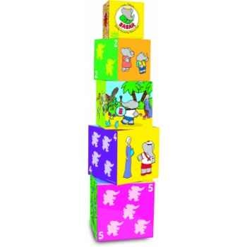 5 cubes gigogne en bois babar - Jouet Vilac 2194