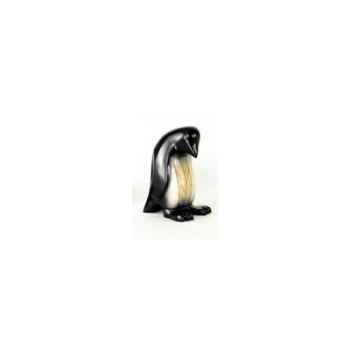 Lasterne-Miniature à poser-Le pingouin sur son nid - 27 cm - PI27-3R