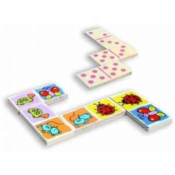 Dominos géants des petites bêtes - Jouet Vilac 2473