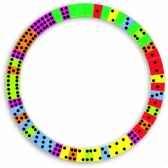 domino alphabet en cercle reversible jouet vilac 2479