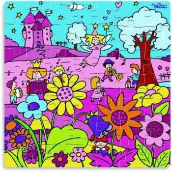 Puzzle 49 pces princesse en boite forme - Jouet Vilac 2532