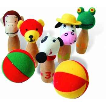 5 baby quilles animaux - Jouet Vilac 2660