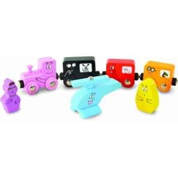 Set de 7 accessoires  train barbabapa - Jouet Vilac 5838